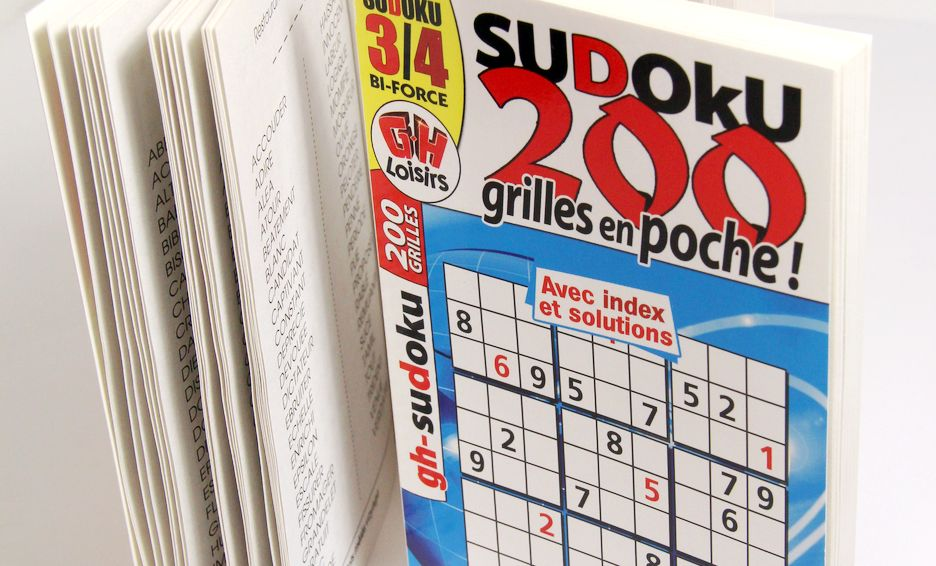 Imprimeur livres jeux sudoku mots fléchés